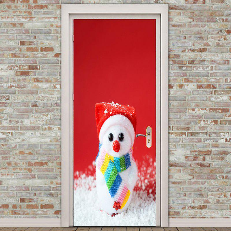 Online Cute Snowman Pattern Environmental Removable Door Stickers