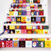 Christmas Elements Print DIY Decorative Stair Stickers -