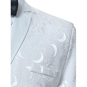 Lapel Collar Single Breasted Jacquard Blazer -