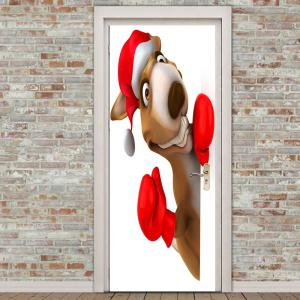 Christmas Kangaroo Pattern Door Stickers -