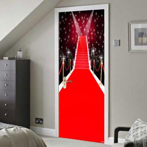 Christmas Starlight Stage Pattern Environmental Removable Door Stickers -