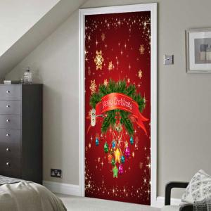 Chrinstmas Home Decoration Environmental Removable Door Stickers -