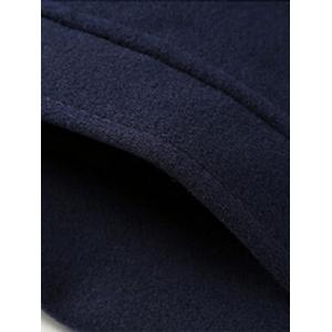 Epaulet Plush Lined Singe Breasted Fleece Jacket -