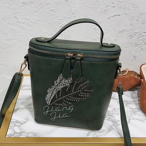 Feather Rhinestone Embroidery Crossbody Bag -
