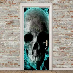 Skull Pattern Door Cover Stickers -