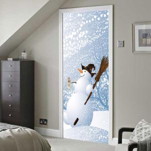 Environmental Removable Snows Printed Door Stickers -