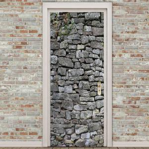Rock Wall Pattern Door Art Stickers -