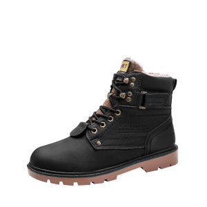 Round Toe Faux-fur Lined Chukka Boots -