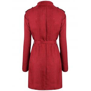 Flounce Plus  Size Wrap Trench Coat -