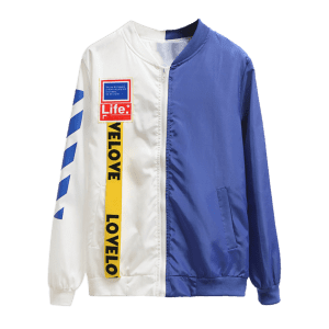 Two Tone Patchwork Windbreaker -