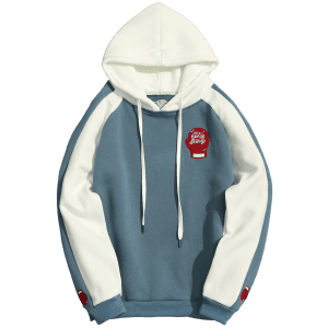 Fleece Two Tone Hoodie -