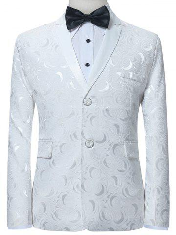 Lapel Collar Single Breasted Jacquard Blazer