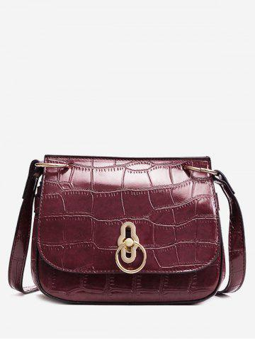 Cheap Embossing Metal Faux Leather Crossbody Bag