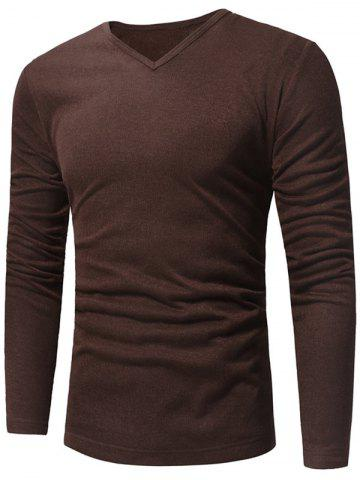 Discount V Neck Pullover Sweater