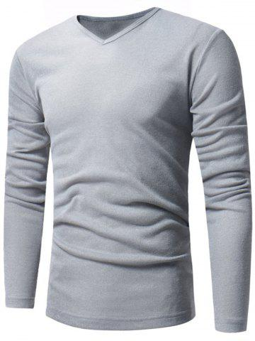 Hot V Neck Pullover Sweater