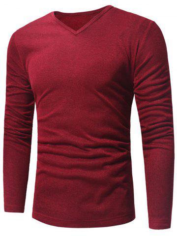 Affordable V Neck Pullover Sweater