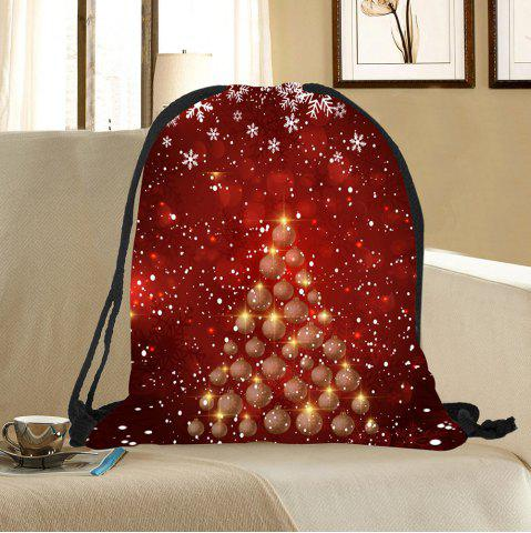 Outfit Snowflakes Balls Christmas Tree Pattern Drawstring Candy Storage Bag