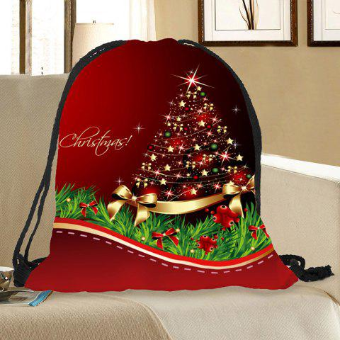 Store Christmas Ornaments Tree Pattern Candy Drawstring Storage Bag