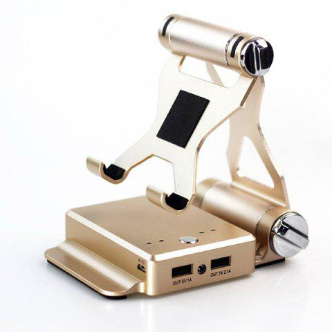 3 In 1 Bluetooth Speaker 5200mAh Power Bank with Phone Holder - GOLDEN