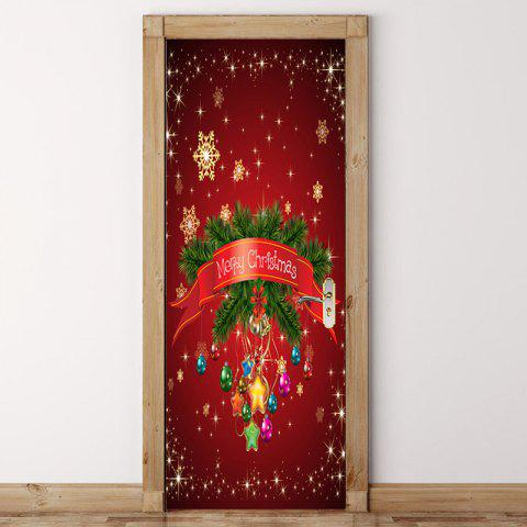 Outfit Chrinstmas Home Decoration Environmental Removable Door Stickers