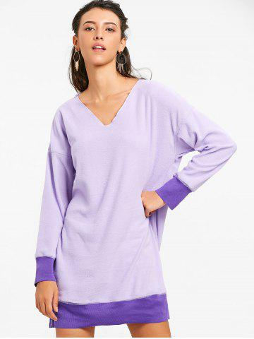 Oversized V Neck Tunic Sweatshirt
