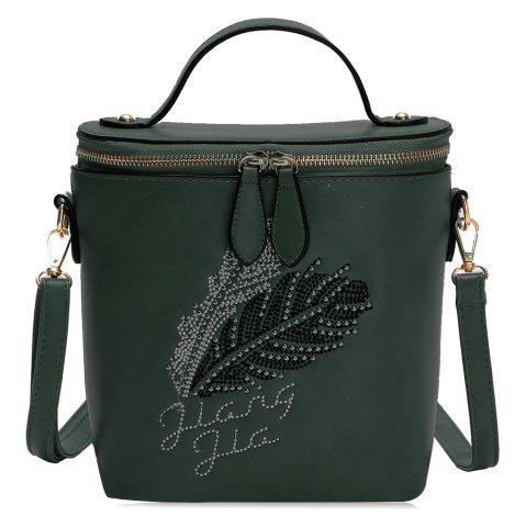 Shops Feather Rhinestone Embroidery Crossbody Bag