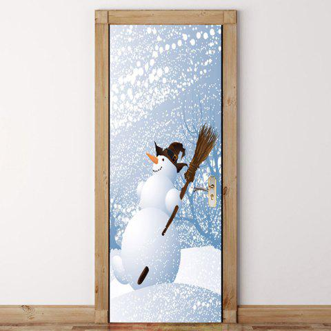 Shop Environmental Removable Snows Printed Door Stickers