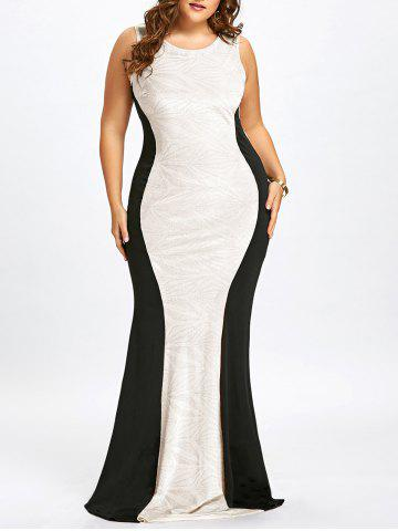Outfits Plus Size Sleeveless Cut Out Mermaid Gown