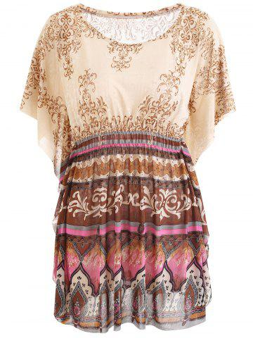 Outfit Tribal Printed Butterfly Sleeve Blouse