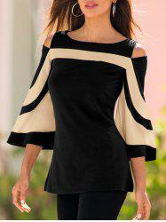 Cold Shoulder Round Neck T-shirt -