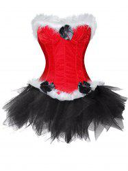 Christmas  Two Piece Corset Dress -