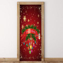 Chrinstmas Home Décoration Autocollants de porte amovibles -