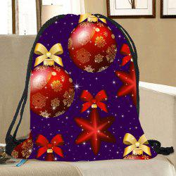 Christmas Ornaments Pattern Drawstring Candy Storage Bag -