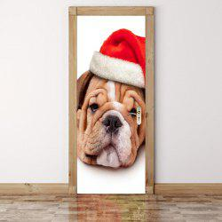 Decorative Christmas Dog Pattern Eco-friendly Door Stickers -