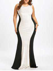 Plus Size Sleeveless Cut Out Mermaid Gown -