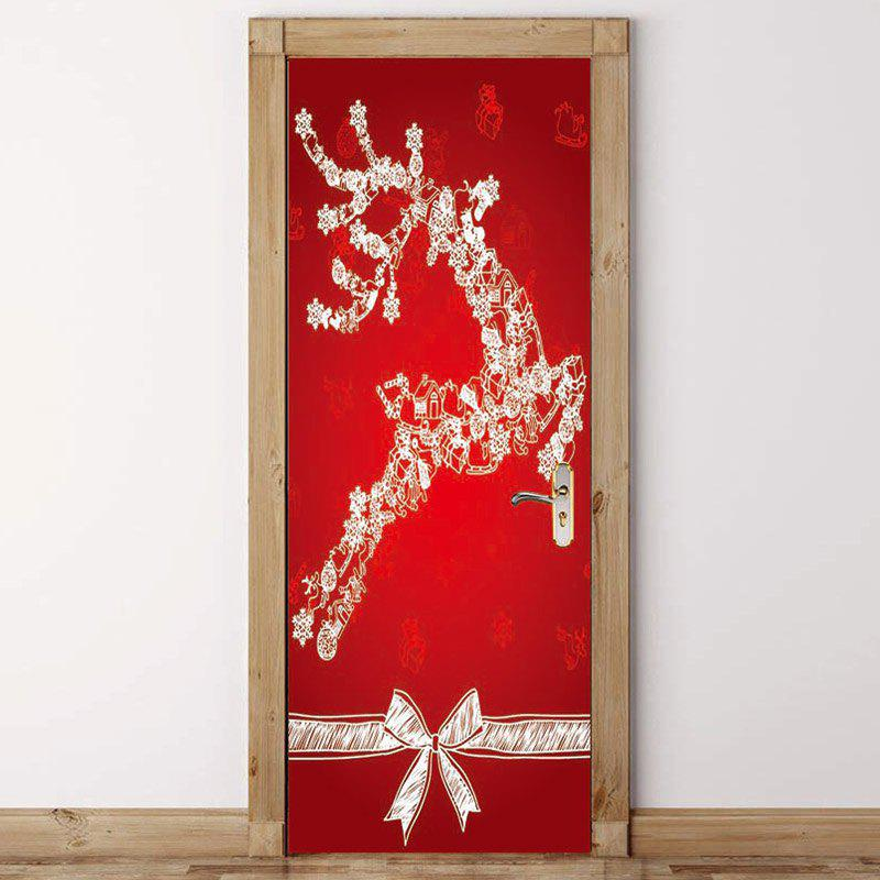 Shop Christmas Elk Pattern Environmental Removable Door Stickers
