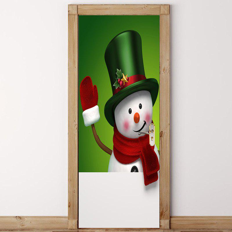 New Environmental Removable Magic Hat Snowman Printed Door Stickers