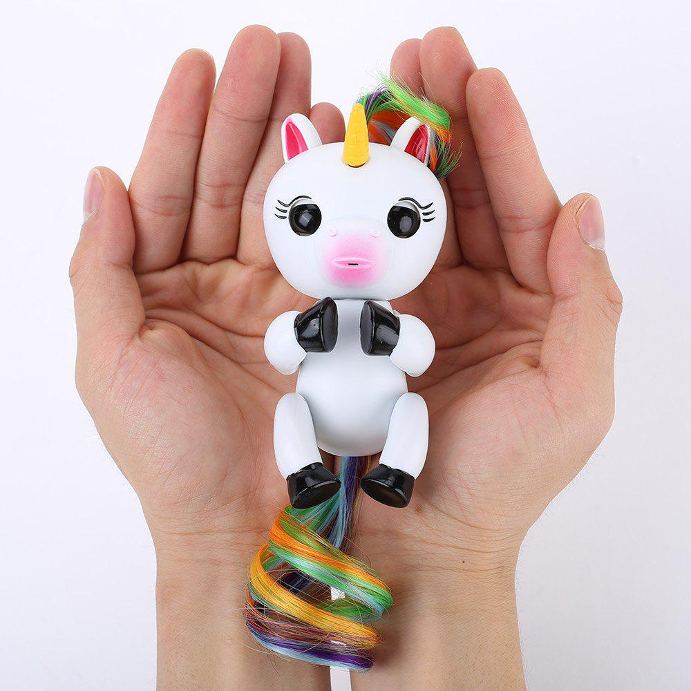 Advanced Edition Smart Record Rechargeable Unicorn Shape Finger ToyHOME<br><br>Color: WHITE; Products Type: Induction Toy; Style: Novelty; Material: ABS,PVC; Package Contents: 1 x Finger Unicorn Toy;