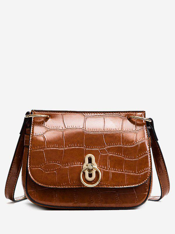 Online Embossing Metal Faux Leather Crossbody Bag