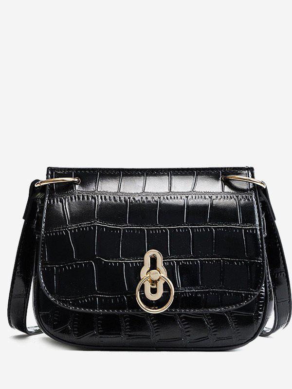 Sale Embossing Metal Faux Leather Crossbody Bag