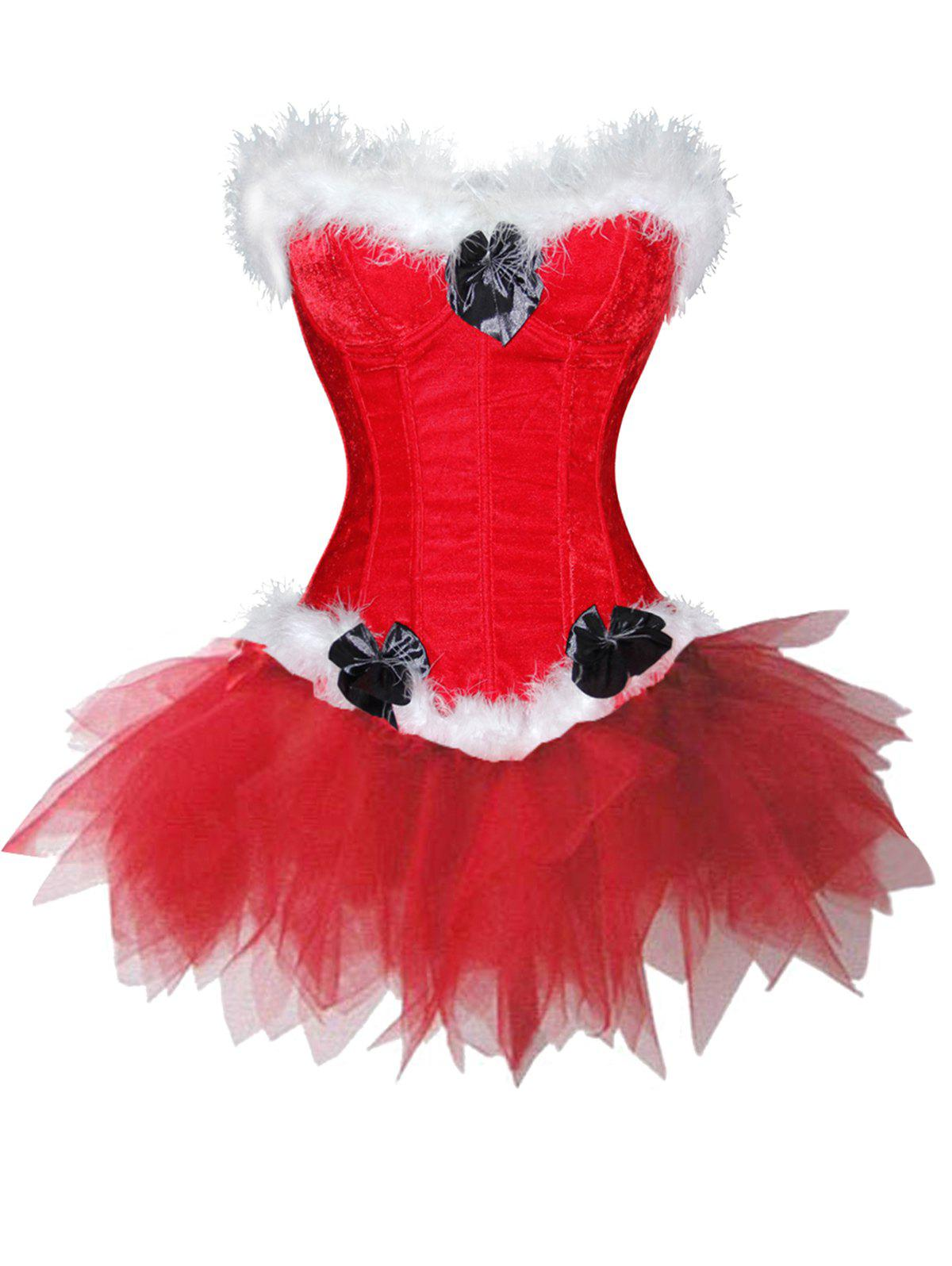 Chic Christmas  Two Piece Corset Dress