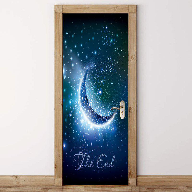 Unique Moon Starry Sky Pattern Door Stickers