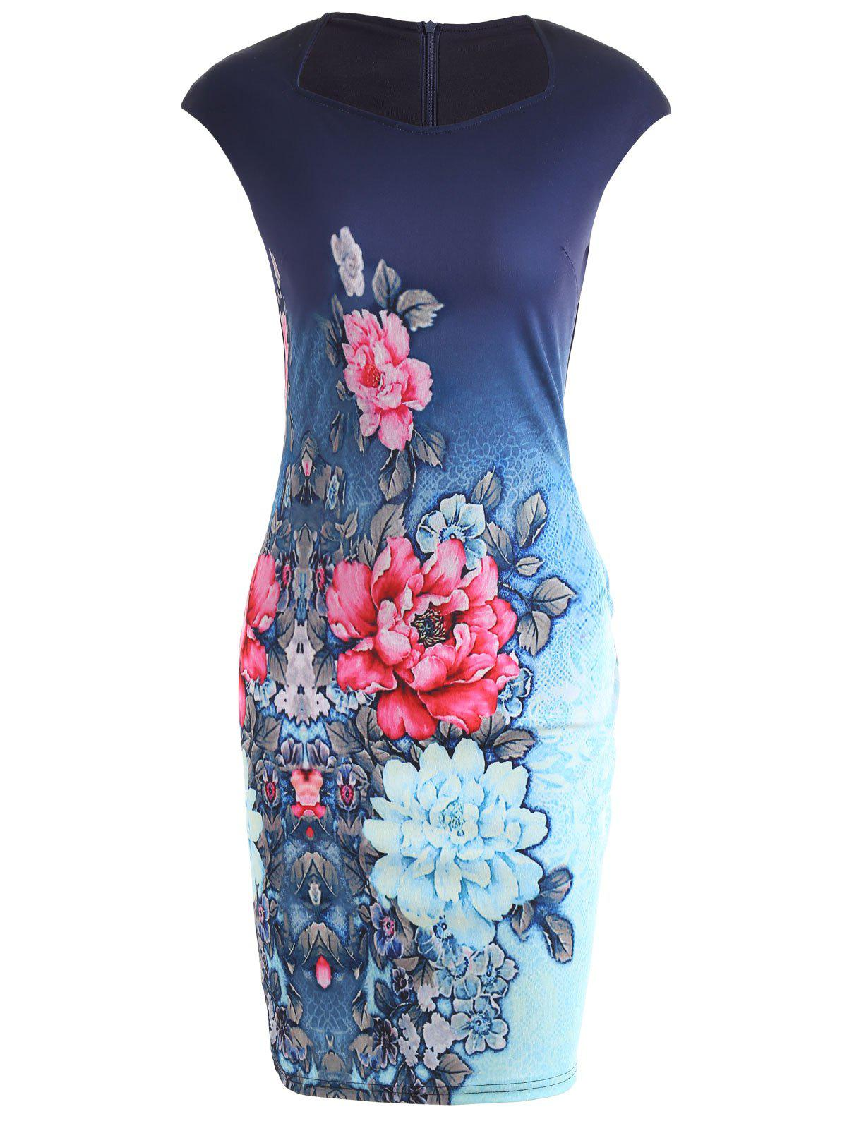 New Floral Pencil Dress