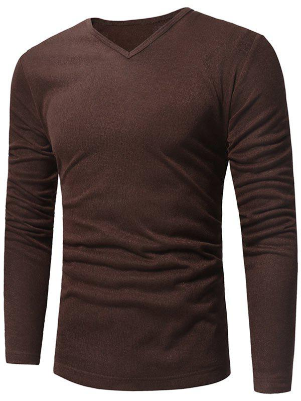 Fancy V Neck Pullover Sweater