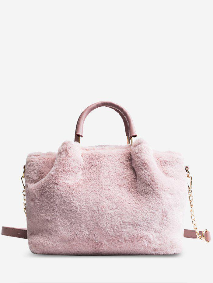Outfits Chain Faux Fur Handbag With Strap