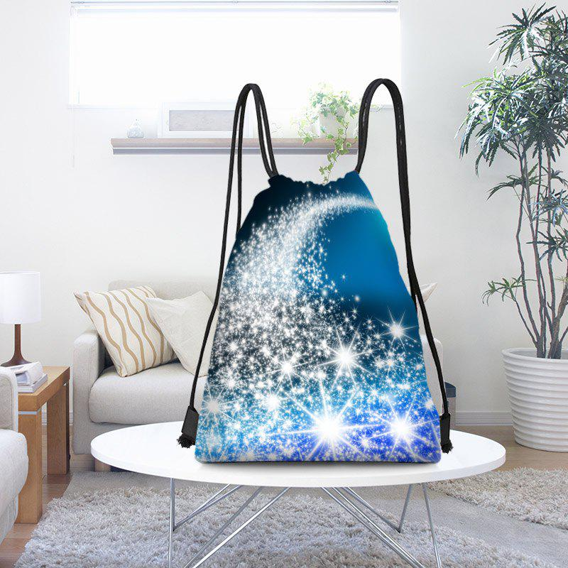 Online Starlight Pattern Christmas Drawstring Candy Gift Storage Backpack