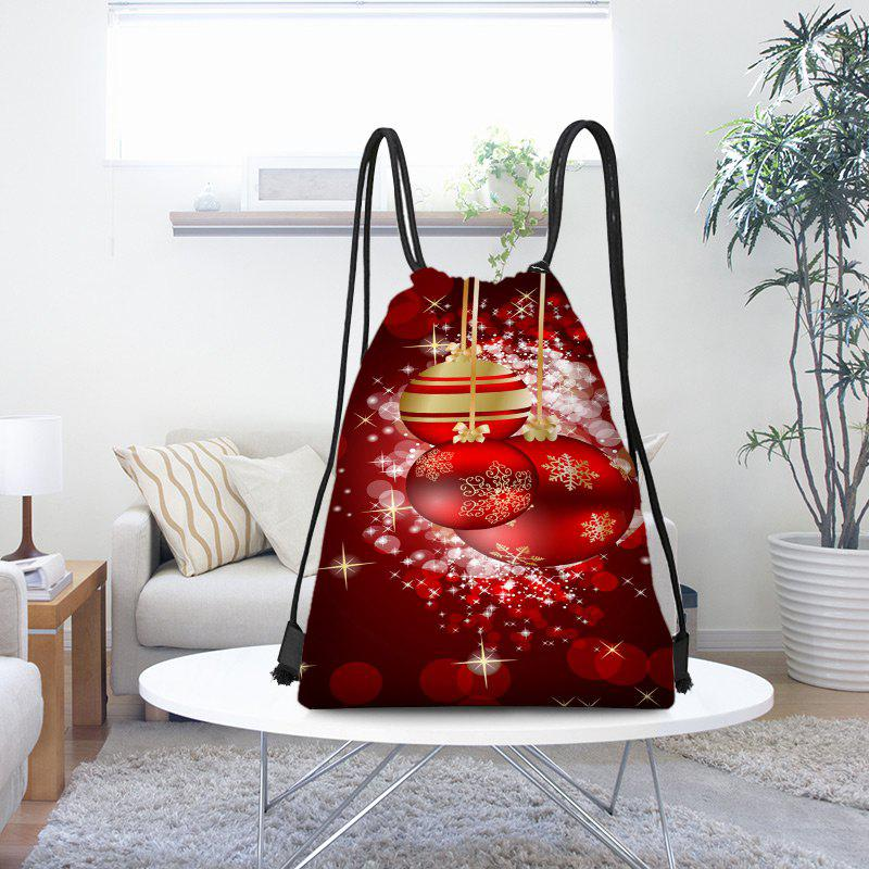 Best Christmas Hanging Baubles Pattern Candy Drawstring Storage Bag