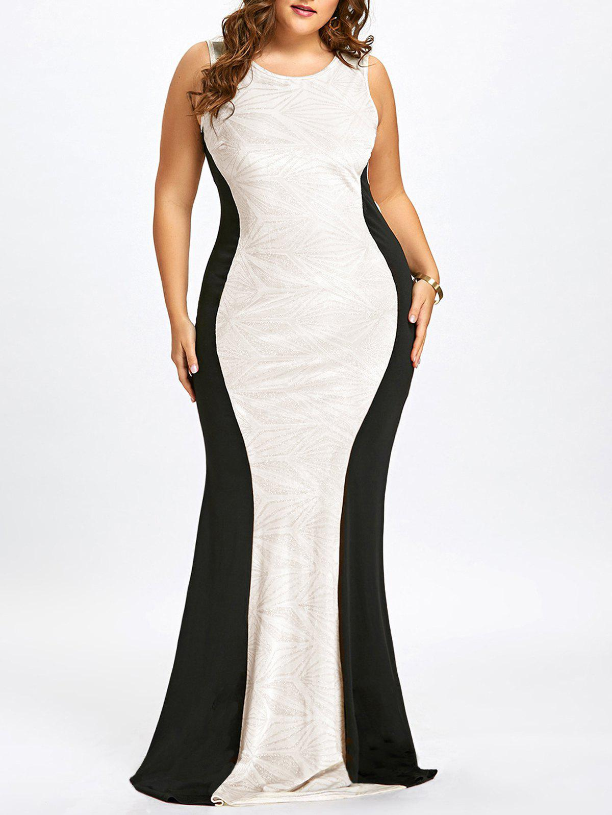 Outfit Plus Size Sleeveless Cut Out Mermaid Gown