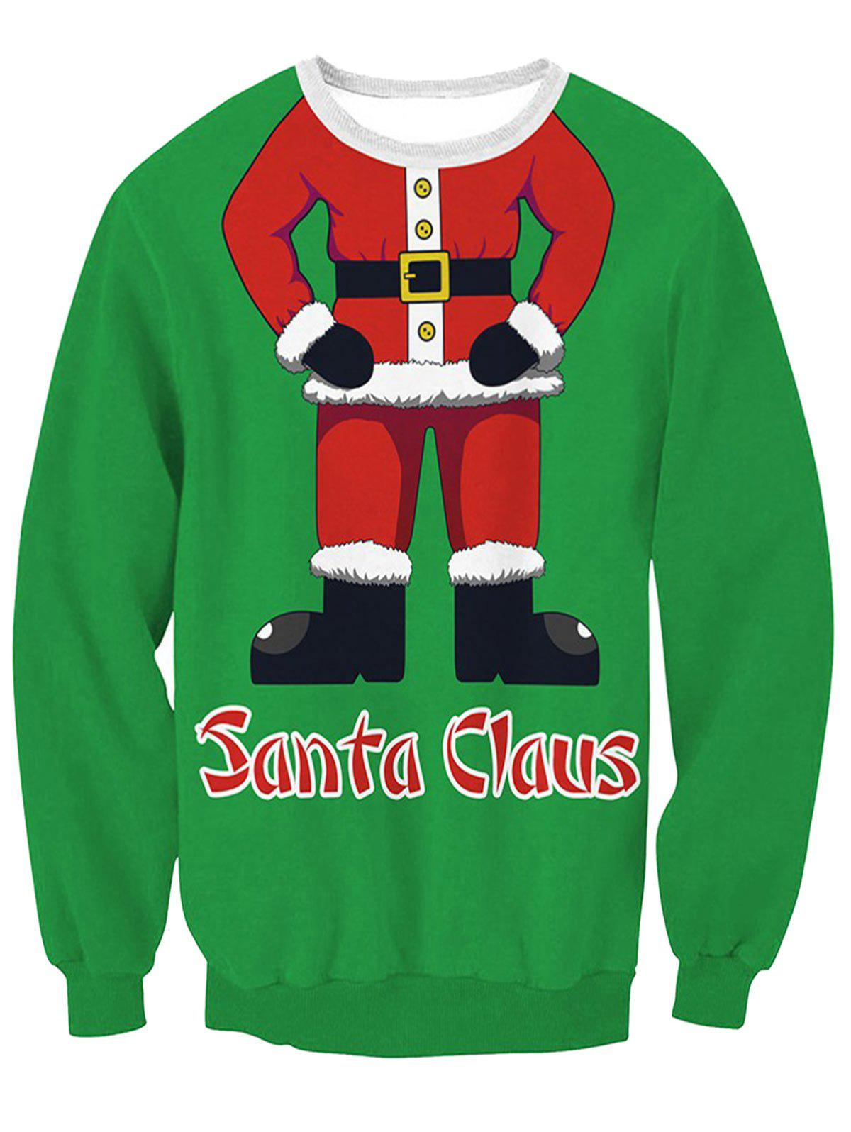 Best Santa Claus Body Print Pullover Sweatshirt
