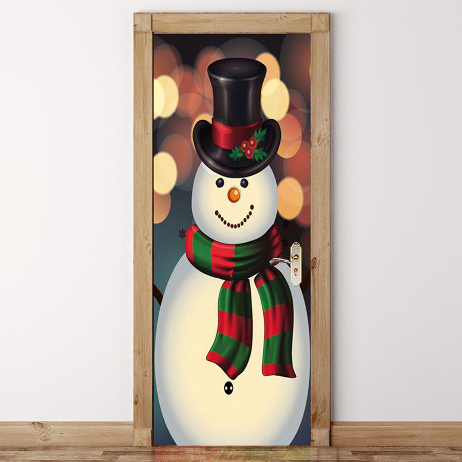 Latest Snowman Pattern Christmas Drawstring Candy Storage Bag
